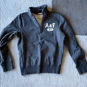 Abercrombie & Fitch Charcoal Gray Pullover